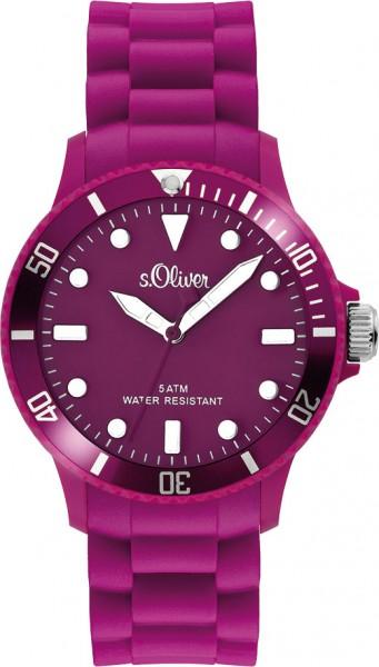 s.Oliver Unisex Silikonbanduhr Modell Nr. SO-2302-PQ  Diese trendige Unisex Silikonbanduhr in violett ist ein absoluter Hingucker. Erhältlich in vielen verschiedenen Farben. Für optimale Ablesbarkeit auch im Dunkeln sorgen Leuchtzeiger und -indexe und dan