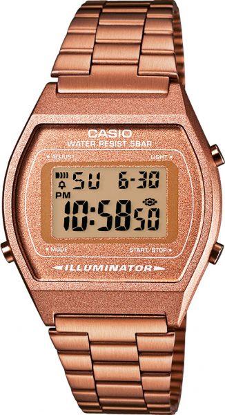 Casio SALE Unisex B640WC-5AEF Armbanduhr Digital Edelstahl  roseevergoldet 39 x 35 x 9 mm