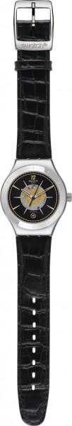 Swatch Big Automatic Dark Sky Automatik Modell Nr. YAS407   Big Automatic – Collection im kultigen Swatch-Design. Der transparente Gehäuse-Boden bietet einen perfekten Blick auf die komplexe Mechanik des Automatik-Uhrwerks. Der in Kontrastfarbe gestaltete