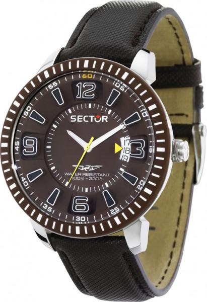 SECTOR Marine 400 Herrenuhr Modell Nr. R3251119005  Die modische Armbanduhr präsentiert sich im attraktiven und sportlichen Design. Einfach passend für jeden Anlass.  – präzises Quartzwerk – Zifferblatt braun – 2 Leuchtzeiger – Kunststofflünette braun – D