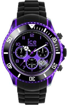 Ice Watch Ice Chrono Electrik CH.KPE.BB.S.12 Big Big 53 mm schwarz violette Herrenuhr