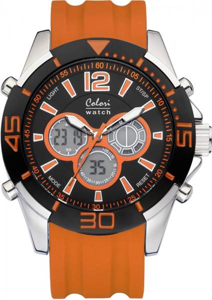 Colori Watch XXL orange Silikonuhren Ø 48mm