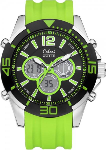 Colori Watch XXL neon-grün Silikonuhren Ø 48mm