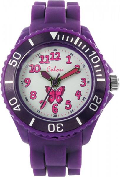 Colori Kids Watch, violett, Silikonuhren Ø 30mm