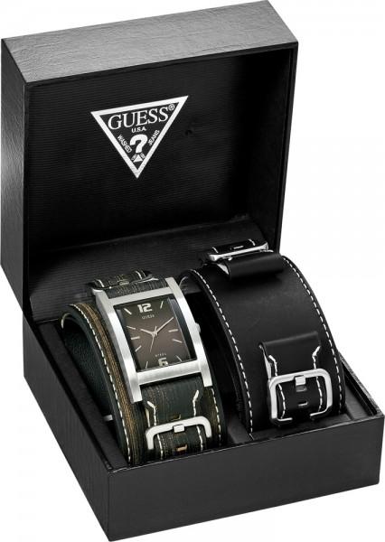 Guess Uhr Box-Set I75540G1 Edelstahlgeh�...