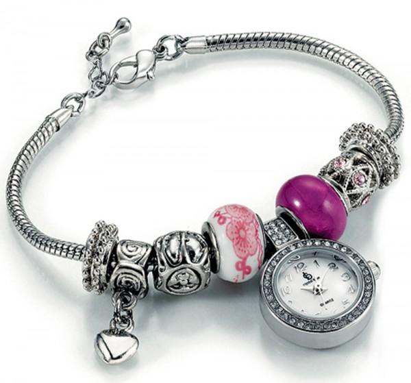 Modische Bead- Uhr aus Metall mit Miyota...