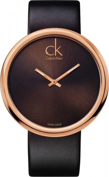 Calvin Klein subtle K0V23203 braune Damenuhr in Roségold  Rotgold