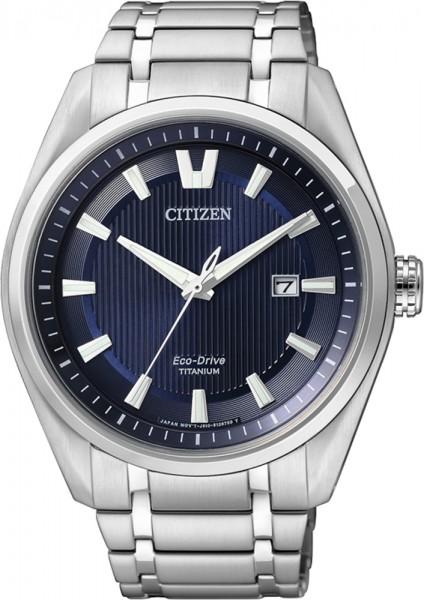 Citizen AW1240-57 L Uhr ECO-Drive mit Supertitanium Gehäuse nachtblauem Zifferblatt Durchmesser 42 mm