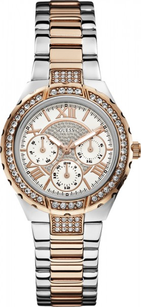 Guess Damen Uhr W0111L4 Multifunktion Vi...