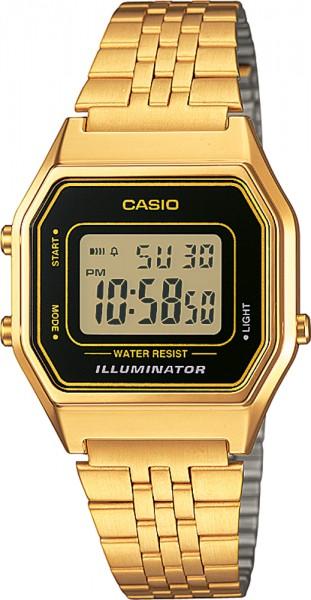 Casio LA680WEGA-1ER Uhr Digital Quarzwerk Edelstahl IP gelbvergoldet  33,5mm x 28,6mm x 8,6mm