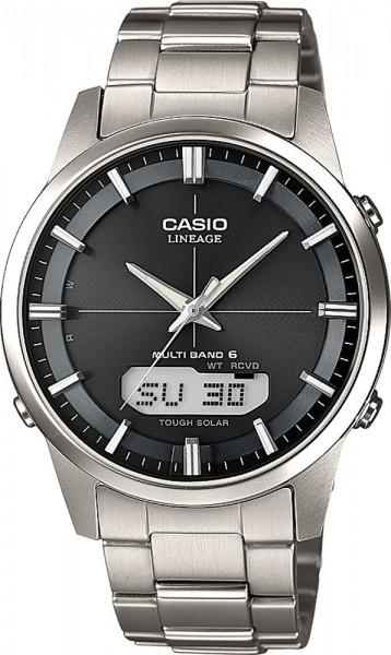 Casio LCW-M170TD-1AER Funkuhr massives Titangehäuse und Band schwarzes Zifferblatt leichte 80 Gramm