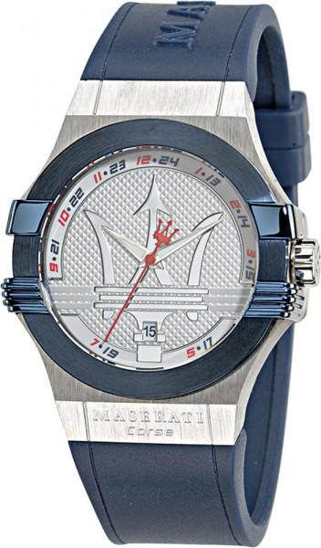 Maserati Uhr Potenza R8851108003 blaues PU Band