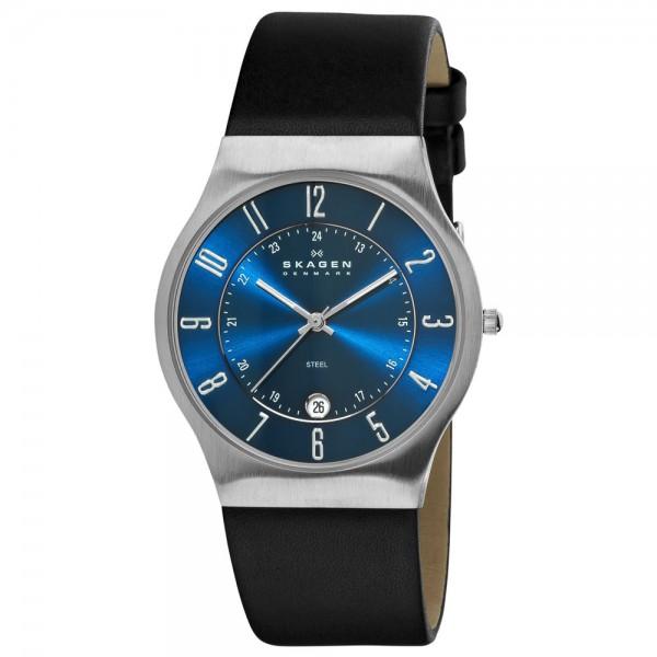 Skagen Uhr 233XXLSLN blaues Zifferblatt