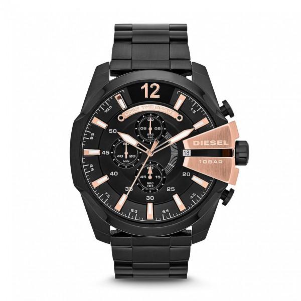 Diesel Uhr Mega Chief DZ4309 schwarz PVD und rosé
