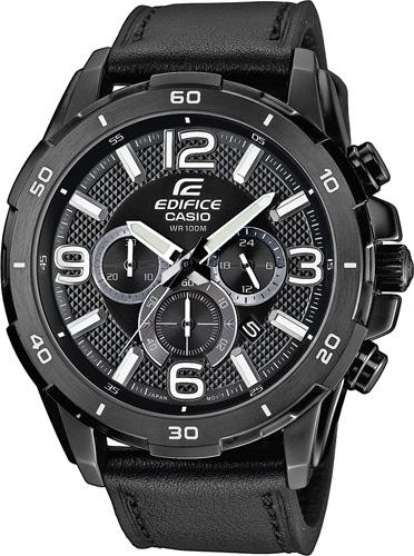 Casio EFR-538L-1AVUEF Edifice schwarz Leder