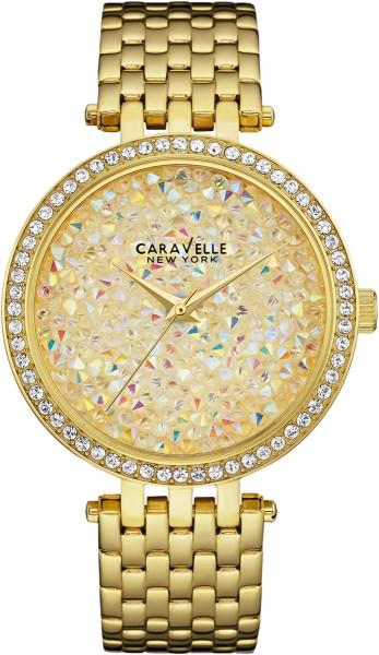 Caravelle New York Damenuhr Gold 44L184