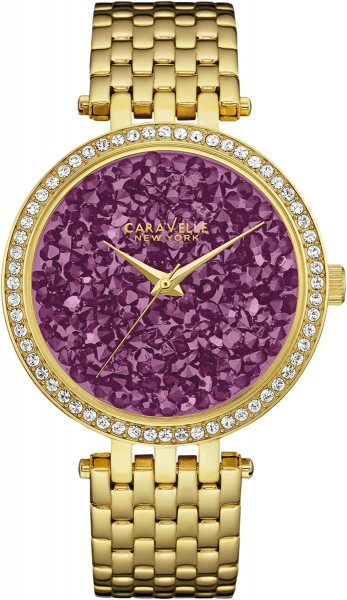 Caravelle New York Damenuhr 44L212 Gold Purple