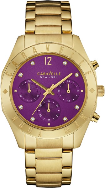 Caravelle New York Damenuhr 44L193 Gold ...