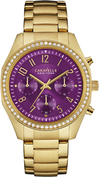 Caravelle New York Damenuhr 44L197 Gold ...