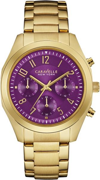 Caravelle New York Damenuhr 44L200 Gold Purple