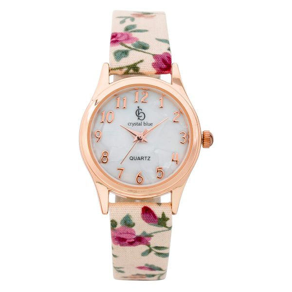 Crystal Blue – Kinderuhr Blume Qua...