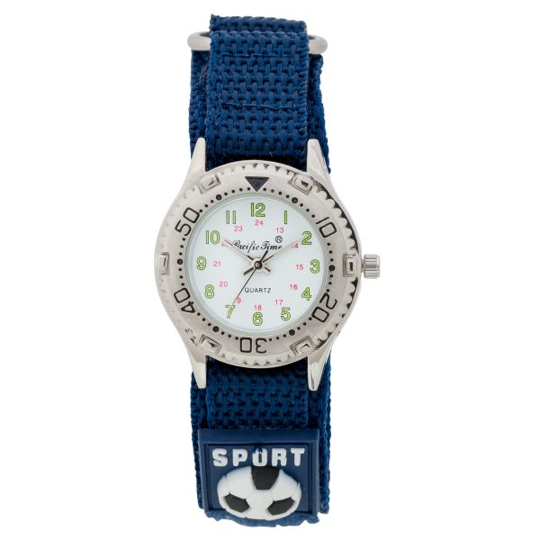 Kinderuhr Sportlook Quarz Crystal Blue