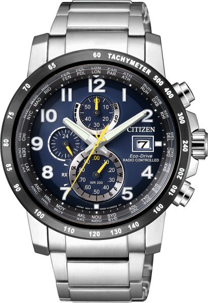 Citizen Uhr AT8124-91L Eco Drive Funkuhr Chronograph Herrenuhren