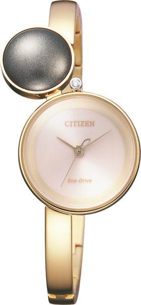 Citizen SALE Damenuhren EW5493-51W Ladies Urushi Perle Diamant Eco Drive IP gold