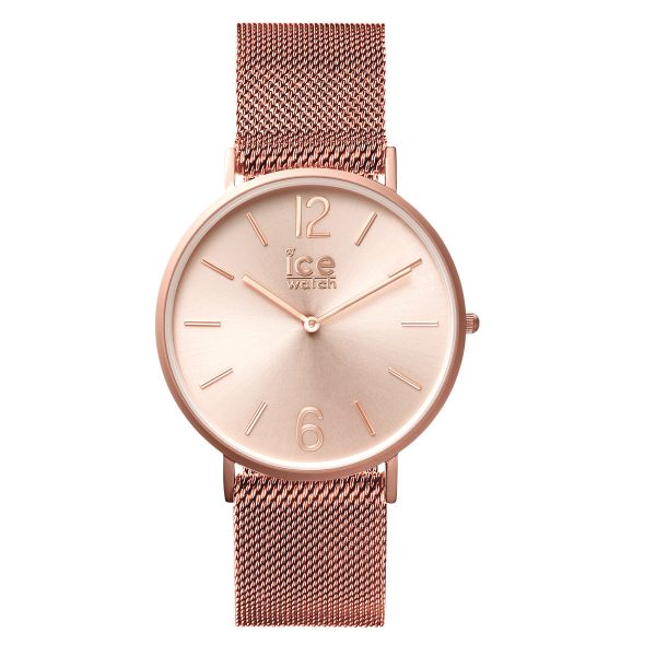 Ice Watch Uhr City Milanaise roségoldfarben 012708 Edelstahlband