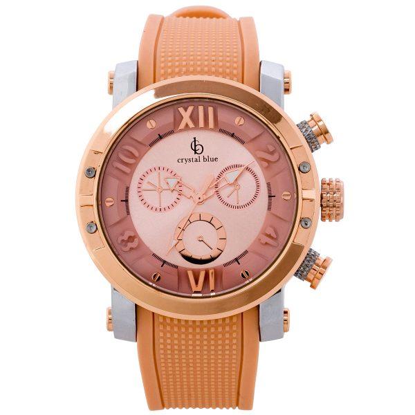 Uhr – Armbanduhr Crystal Blue Rosa...