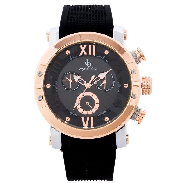 Uhr – Armbanduhr Crystal Blue schw...