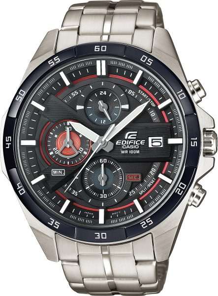 CASIO Uhr EFR-556DB-1AVUEF Edifice Chronograph Basis rote Applikationen