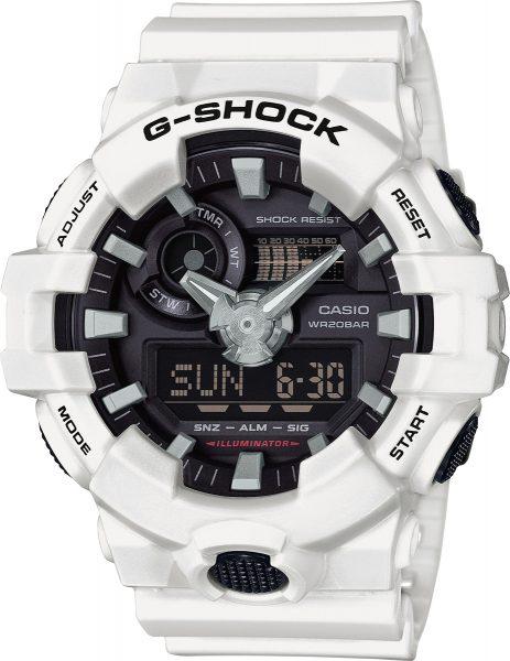 CASIO Uhr GA-700-7AER G-Shock Weiß Basi...