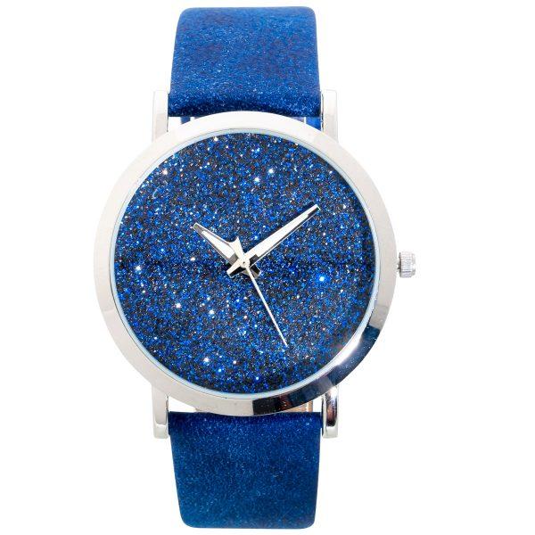 Uhr Modische Glitzer Uhr Blau Quarzwerk ...