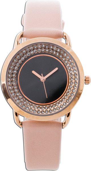 Damenuhr Uhr rosa Kunstleder Armband ant...