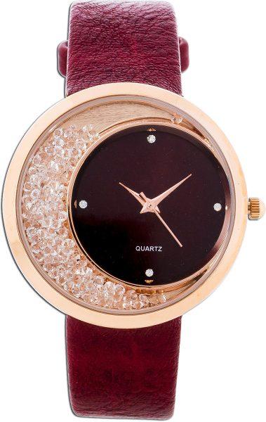 Uhr Crystal Blue rosé vergoldet Metall ...