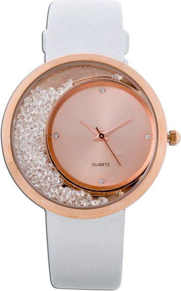 Damenuhr Uhr Damen weiß Gold vergoldet ...