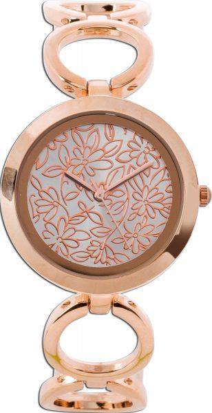 Damenuhr Rosegold vergoldet Metall Uhr D...