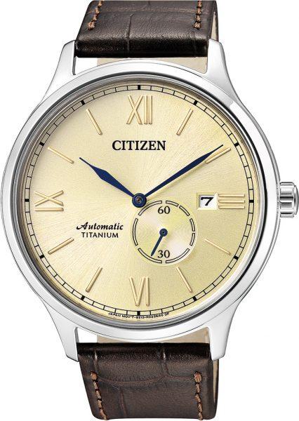Citizen Uhren NJ0090-13P Automatik Titan braunes Lederband