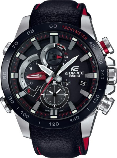 Casio Uhren EQB-800BL-1AER Edifice Premium Bluetooth Tough Solar Chronograph Herrenuhr