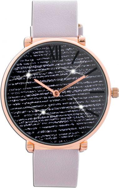 Crystal Blue Uhr Glitzer Ziffernblatt Me...