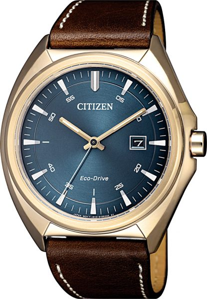 Citizen Uhren AW1573-11L Eco Drive Ringsolar braunes Lederband