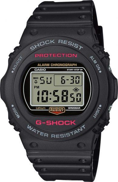 CASIO SALE Uhr DW-5750E-1ER G-SHOCK Resin Digital rot schwarz