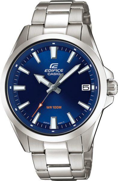 CASIO Uhr EFV-100D-2AVUEF Edifice Classic Edelstahl blaues Zifferblatt Unisexuhr