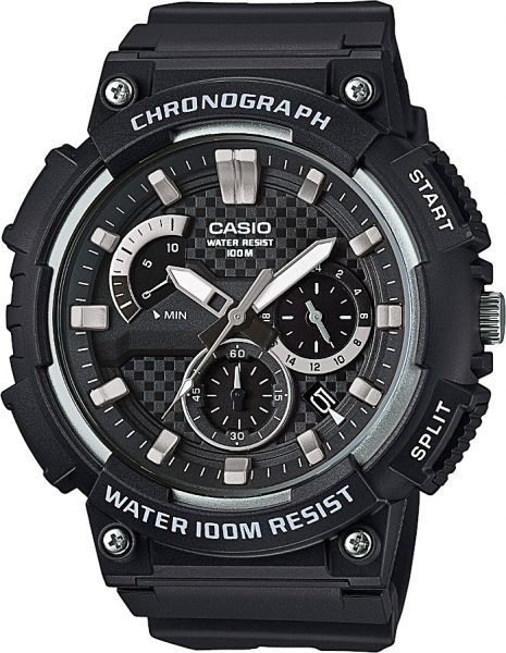 CASIO Uhr MCW-200H-1AVEF Collection Herrenchronograph Resingehäuse Resinarmband 10bar