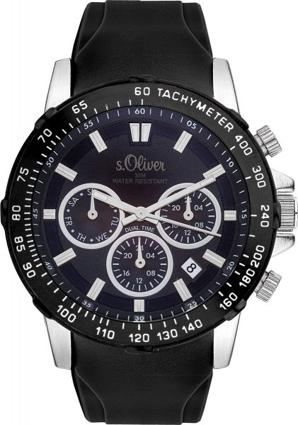 s.Oliver Herrenuhr SO-3489-PM Metallgeh�...