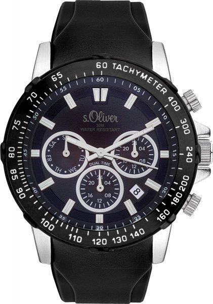s.Oliver Herrenuhr SO-3489-PM Metallgeh�...