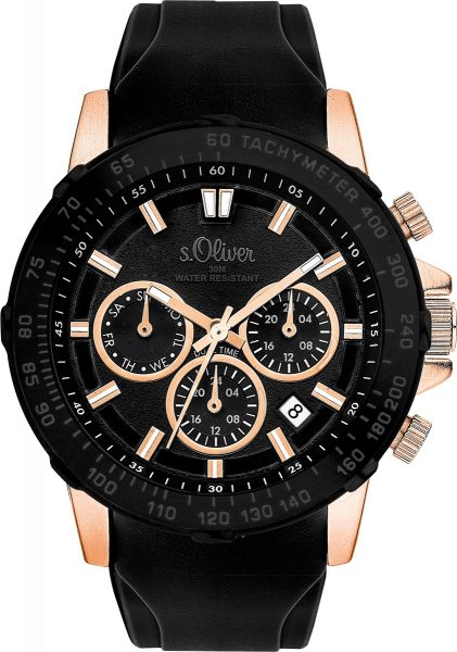s.Oliver Herrenuhr SO-3491-PM Multifunkt...