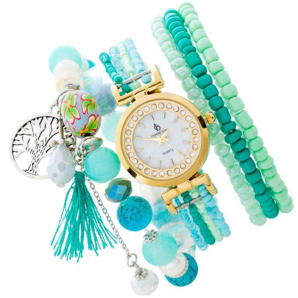 Crystal Blue Uhr Armband/ Uhr Set 5-teil...