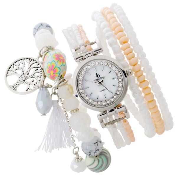 Armbanduhr Uhr Damen Set Armband dehnbar...